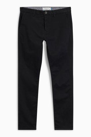 Next Men's Pleated Chinos Black - Stockpoint Apparel Outlet