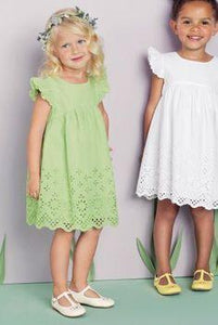 Next Toddler Girl White Broderie  Dress - Stockpoint Apparel Outlet