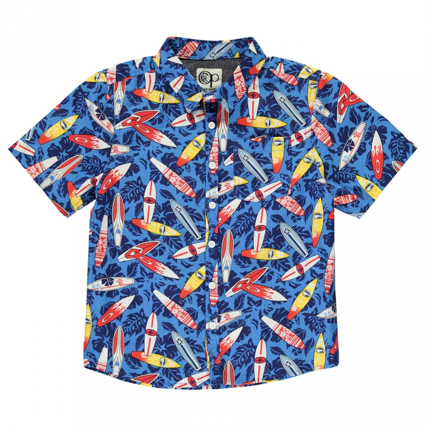 Ocean Pacific Boys All Over Print Shirt - Colour Surfboards