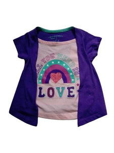 "Pep & Co ""All you need is love"" 2 in 1 Baby Girls Top"