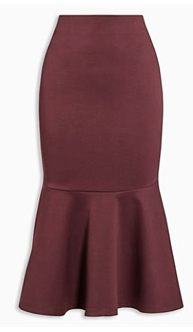 Next Womens Berry Peplum Skirt