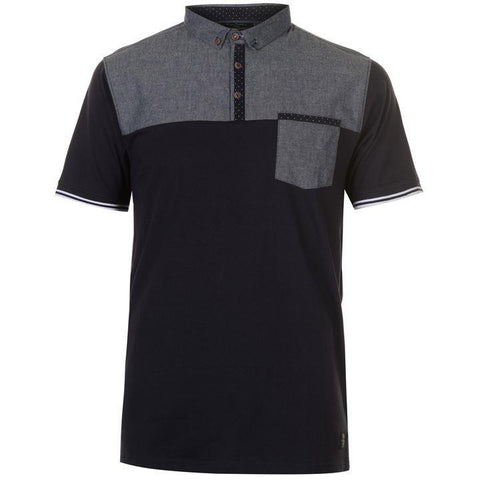 Pierre Cardin Mens Navy Chest Panel Polo Shirt