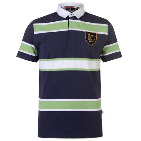 Pierre Cardin Mens Navy SS Rugby Polo Shirt
