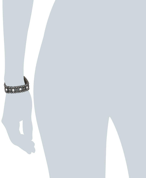 Pilgrim Jewelry Bracelet Silver-Plated Brass Haematite-Coated - Stockpoint Apparel Outlet