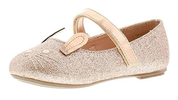 Princess Stardust Mousey Rose Gold Novelty Ballerina Party Shoes
