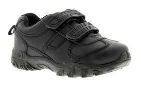 Rockstorm Barney Boys Sporty Casual Black School Shoe
