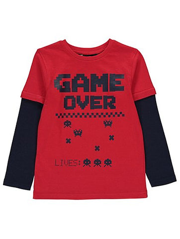 George Red Game Over Long Sleeve Top