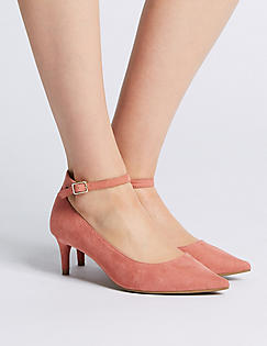 M&S Heel Ankle Strap Womens Court Shoes