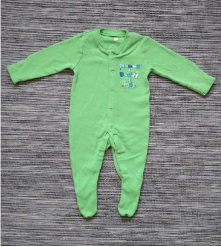 Baby Boys Green Sleepsuit