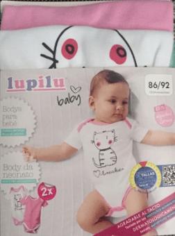 Lupilu 2 Pack Bodysuit - Stockpoint Apparel Outlet