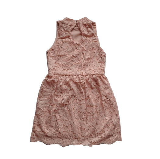 PrettyLittleThing Girls Nude Lace Prom Dress