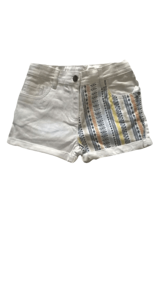 Girls Pattern White Jeans Shorts - Stockpoint Apparel Outlet