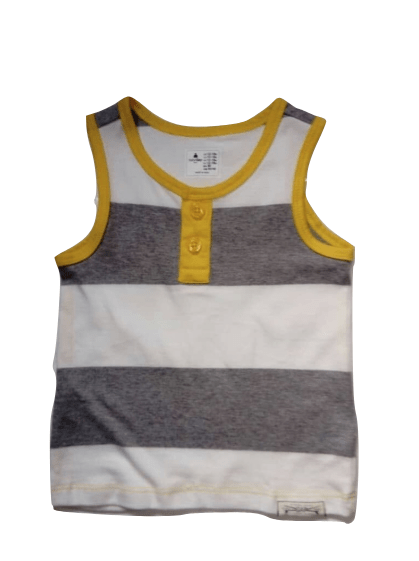 GAP Baby Boys Grey & Yellow T-Shirt Vest