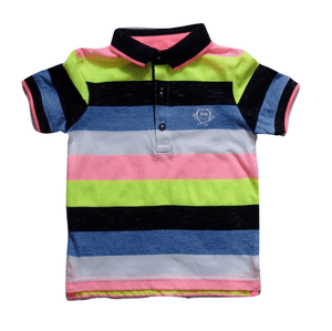 George Baby Boys Multicolour Striped Poloshirt