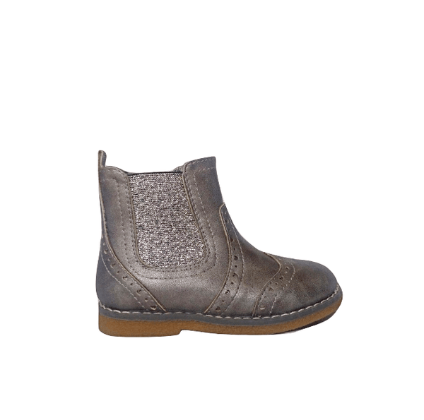 George Girls Brogues Silver Ankle Boots