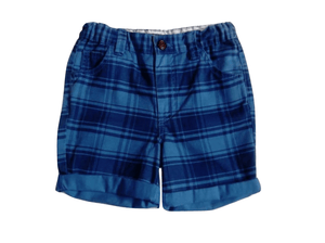 Pep & Co Check Blue Shorts