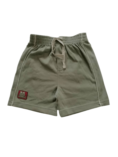 Adams Baby Boys Olive Green Side Stripe Jersey Shorts