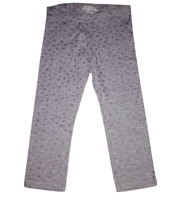 H&M Girls Silver Glittery Dot Trousers - Stockpoint Apparel Outlet