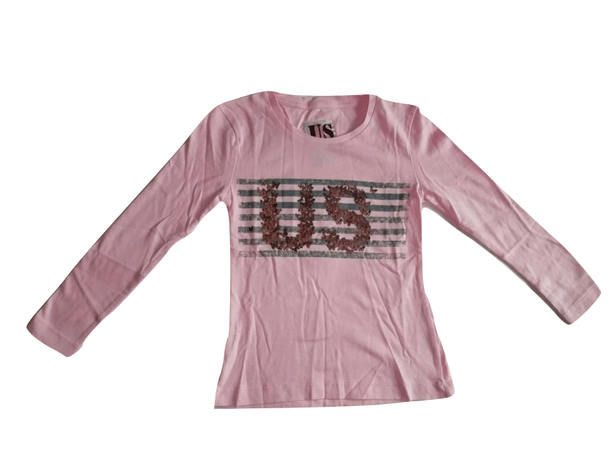 US Girls Pink Long Sleeved T-Shirt - Stockpoint Apparel Outlet