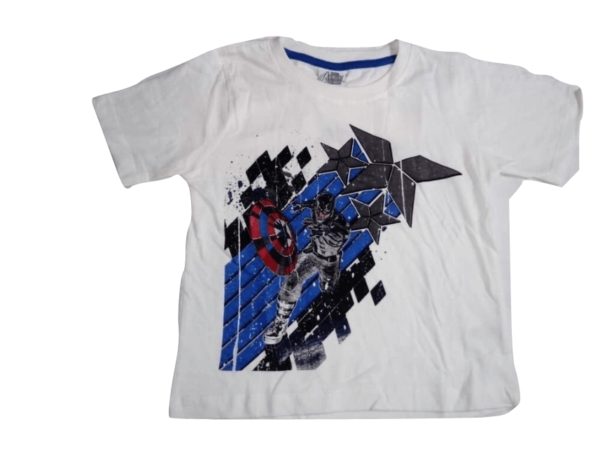 Marvel Avengers Boys Captain America T-Shirt - Stockpoint Apparel Outlet