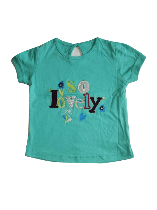 Pretty Embroidered So Lovely Green Top - Stockpoint Apparel Outlet