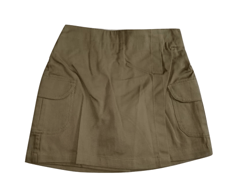 Chambo Baby Girls Olive Green Wrap Shorts