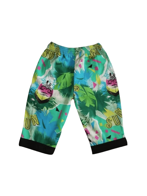 Chambo Summer/Beach Black & Green Multicolour Boys Shorts