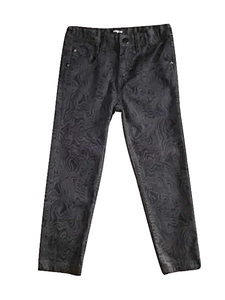 Pep & Co Girls Black Floral Jeans