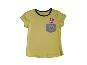 Pep & Co Kitten Love Heart Yellow T-Shirt - Stockpoint Apparel Outlet