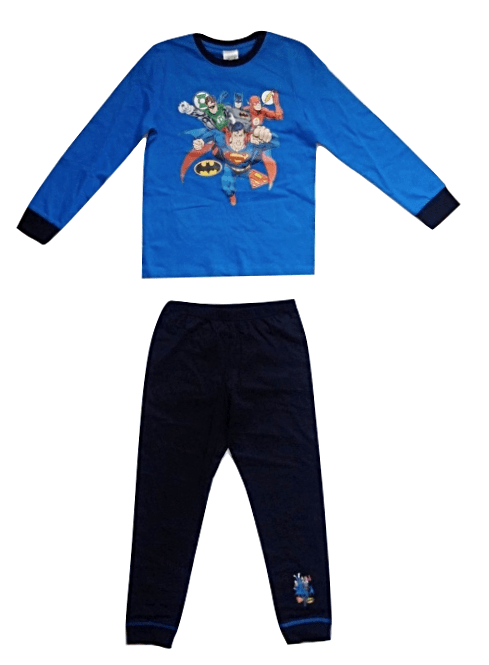 Justice League Navy Blue Boys Pyjamas Set