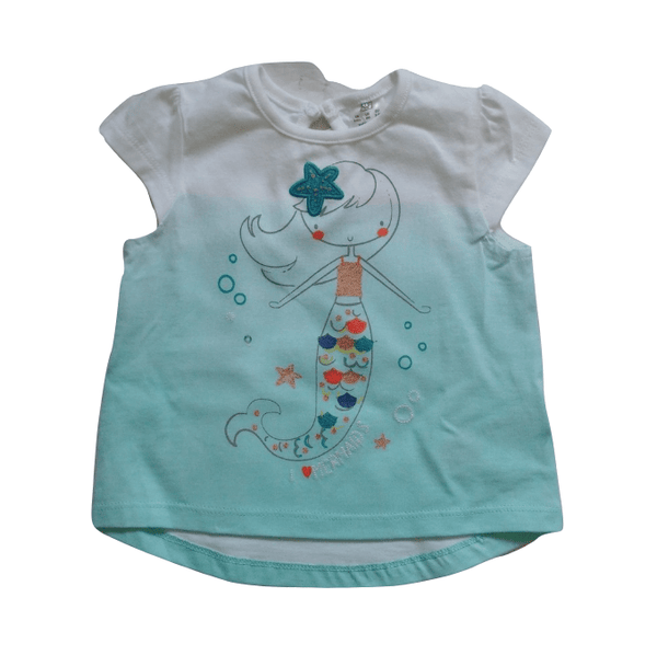 F&F Mermaid Blue Top - Stockpoint Apparel Outlet