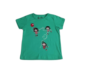 Pep & Co Party Girls Green T-Shirt - Stockpoint Apparel Outlet