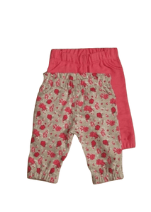 F&F Floral Pink 2 Pack Trousers - Stockpoint Apparel Outlet