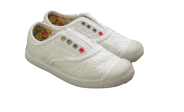Next White Floral Lace Plimsols - Stockpoint Apparel Outlet