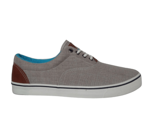 Mens Grey Lace-Up Trainers