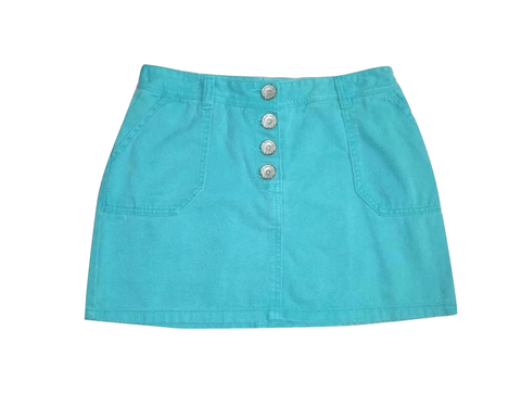 Next Teal Jeans Skirt