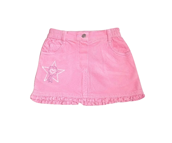 Baby Girls Pink Star Jeans Skirt