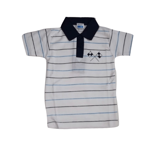 EMA Boys Striped Polo shirt Navy/white