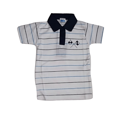 EMA Baby Boys Striped Polo shirt Navy/white