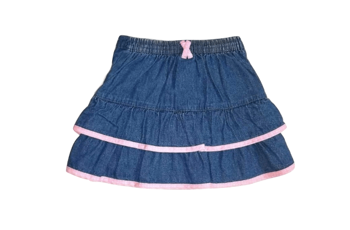 Tu Baby Girls Navy Pink Lined Skirt - Stockpoint Apparel Outlet