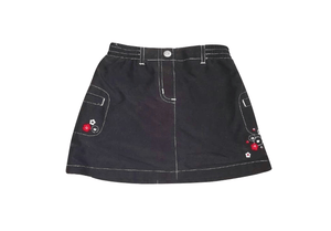 Baby Girls Black Skirt with Side Pocket