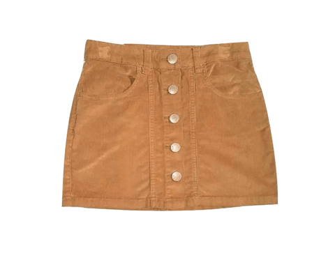 Next Girls Brown Corduroy Skirt