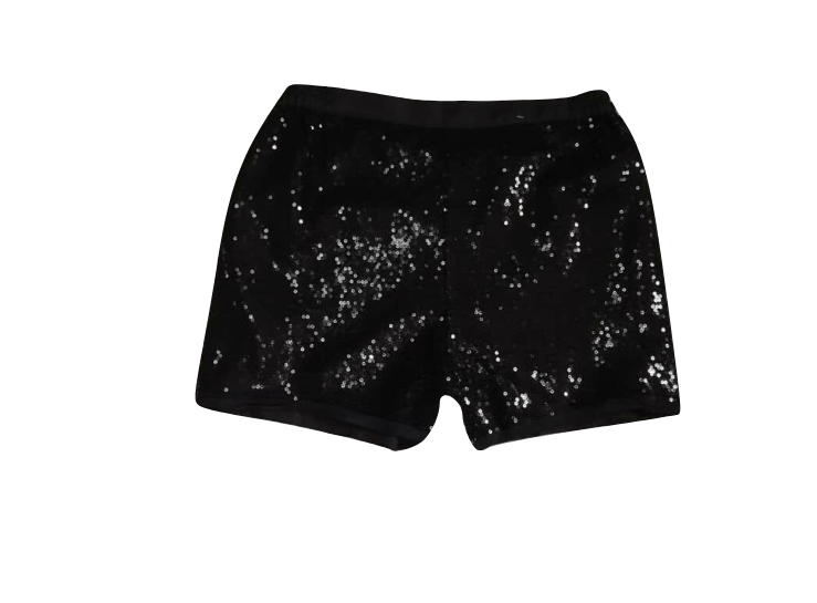 George Girls Black Sequin Glitter Shorts - Stockpoint Apparel Outlet