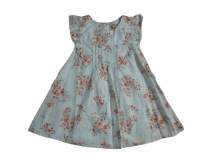 Next Red Floral Baby Girls Green Dress