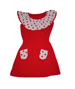 319b2a20d Baby Girls Red Polka Dots Front Pocket Dress – Stockpoint Apparel Outlet