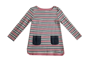Next Striped Front Pocket Longsleeve Baby Girls Dress