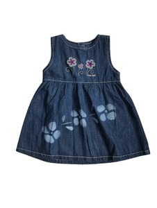 Oshkosh Denim Floral Design Baby Girls Dress