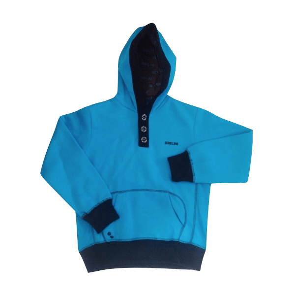 Dunnes Brelini Boys 3 Button Blue & Black Hooded Top - Stockpoint Apparel Outlet