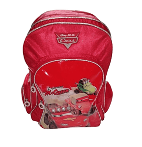 Disney Pixar Cars Lighting McQueen Red Large Backpack