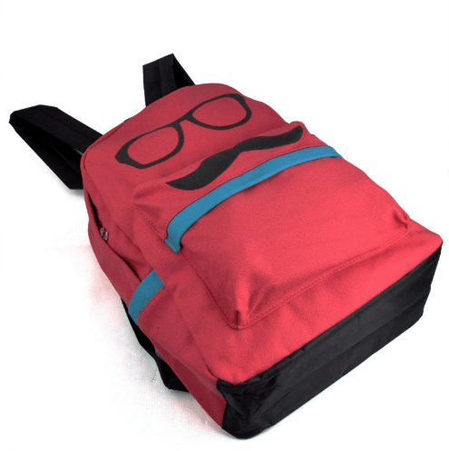 RHX Canvas Moustache Sunglasses Red Backpack